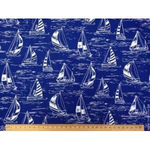 Ткань Seaside, парусники, Timeless Treasures