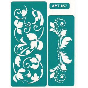 Трафарет Бордюры цветы 2 (057H)