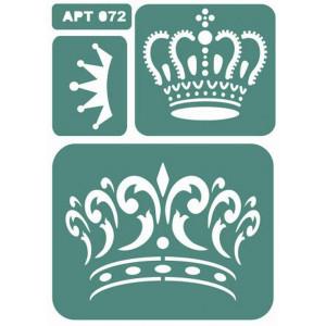 Трафарет Большая Корона (072)