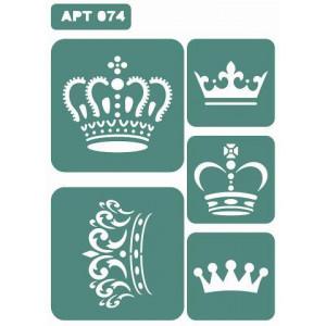 Трафарет Маленькие Короны (074)