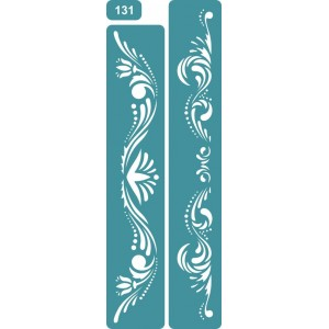 Трафарет Бордюр Цветы (131)