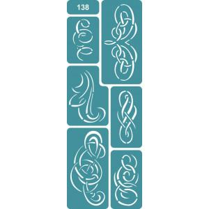 Трафарет Плетеные мотивы (138)