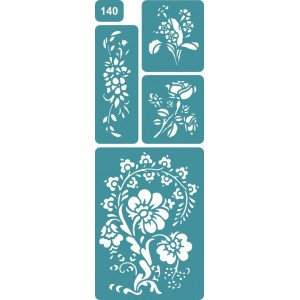 Трафарет Полевые цветы (140)
