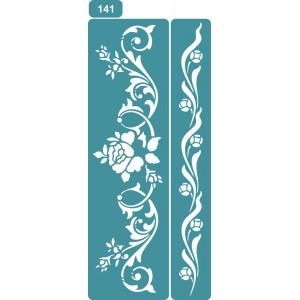 Трафарет Полевые цветы 2 (141)