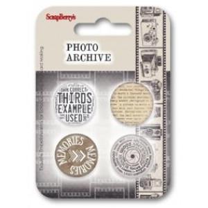 Набор фишек из металла №2 Фотоархив от ScrapBerry's