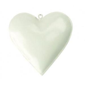 Заготовка из металла для декупажа Сердце Белое  от Stamperia