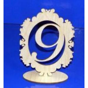Цифра 9 в рамке на подставке 18 см
