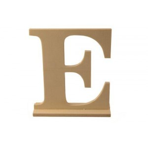 Деревянная буква Е 15 x 4 x 15.5 см от ScrapBerry's
