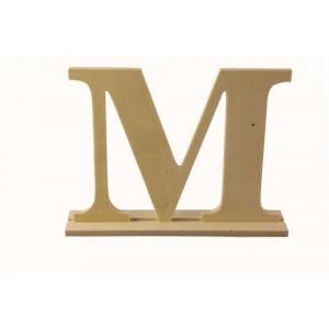 Деревянная буква М размер  20 * 4 * 15 см от ScrapBerry's