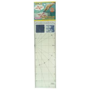 Линейка метрическая с сатиновым покрытием 15x60 см OLFA