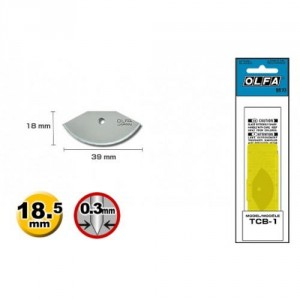Лезвие для ножа TEC-1, 3шт OLFA