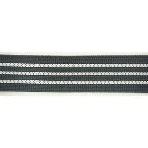 Резинка поясная с фиксацией 32 мм, серый, PEGA