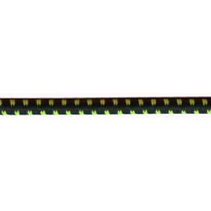 Резинка шляпная 2.8мм Зеленый с черным PEGA