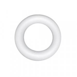 Венок из пенопласта плоский с одной стороны 30 см