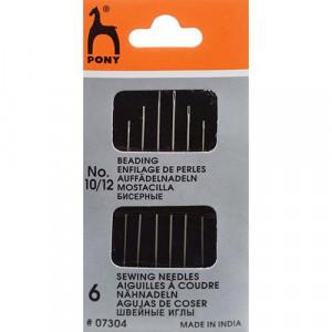 Иглы для бисера N10-12 6 шт/упаковка