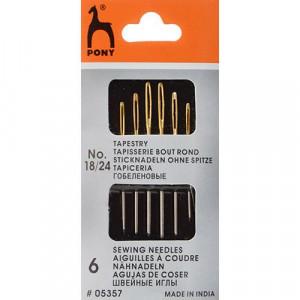 Иглы для гобелена N18-24 6 шт/упаковка