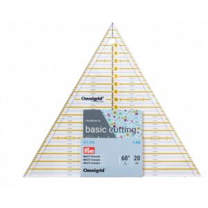 Треугольник для пэчворка 60°, 20см Omnigrid Prym