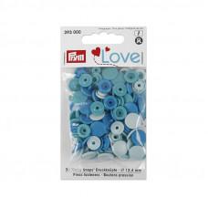 Kнопки пластиковые Color Snaps PrymLove Голубой/бирюзовый 12.4 мм  PRYM