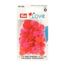 Kнопки пластиковые Color Snaps PrymLove Красный/розовый 12.4 мм  PRYM