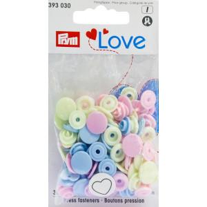 Kнопки пластиковые Сердце Color Snaps PrymLove Розовый/зеленый/пастельный синий 12.4 мм  PRYM