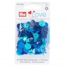 Kнопки пластиковые Звезда Color Snaps PrymLove Синий/бирюзовый/чернильный 12.4 мм  PRYM