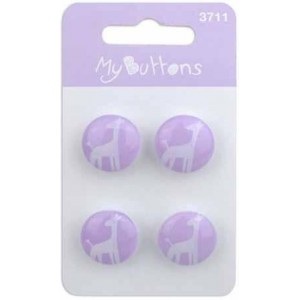 Пуговицы Light Purple Giraffes коллекция  My Buttons от BLUMENTHAL LANSING