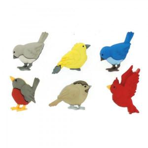 Набор пуговиц  Feathered Friends от Dress It Up