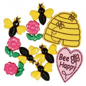 Набор пуговиц  Bee Happy от Favorite Findings