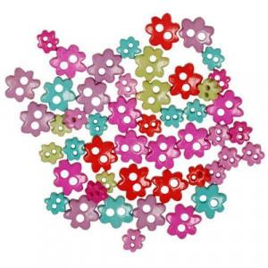 Набор пуговиц  Funky Mini Flowers от Favorite Findings