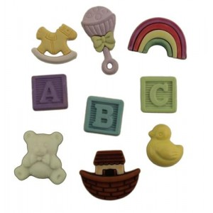 Набор пуговиц Baby Nursery  от Buttons Galore and More