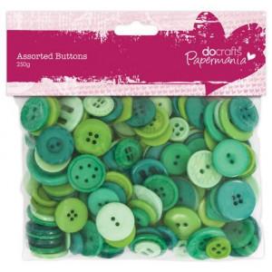Набор пуговиц Green Assorted Docrafts