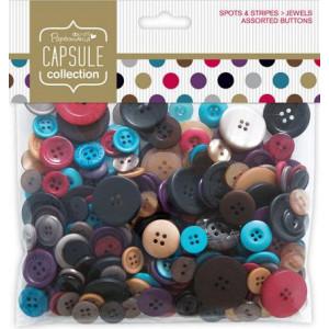 Набор пуговиц Spots& Stripes Jewels от Docrafts