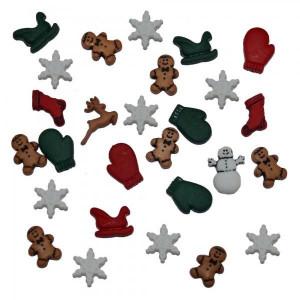 Набор пуговиц Christmas Miniatures от Dress It Up