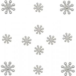 Набор пуговиц Pearl Snowflakes от Dress It Up
