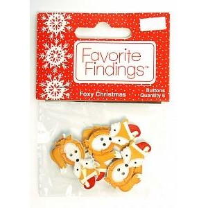 Набор пуговиц  Foxy Christmas от Favorite Findings