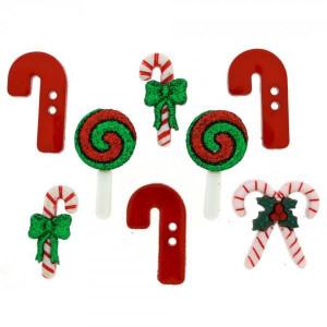 Набор пуговиц  Candy Striped Christmas  от Dress It Up