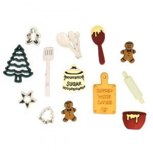 Набор пуговиц  Christmas Cookies  от Dress It Up