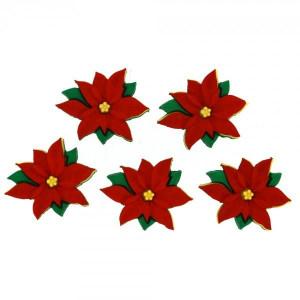 Набор пуговиц Red Poinsettias от Dress It Up