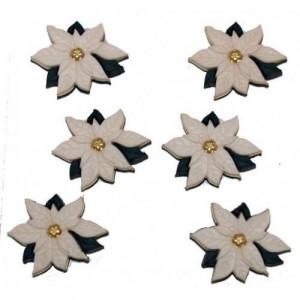 Набор пуговиц Ivory Poinsettias от Dress It Up