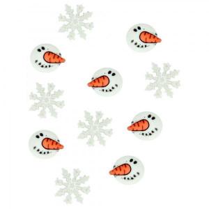 Набор пуговиц Snowman Faces от Dress It Up