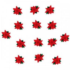 Набор пуговиц Mini Red Poinsettias от Dress It Up