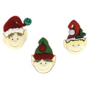 Набор пуговиц Holiday Elves от Dress It Up