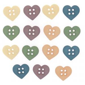 Набор пуговиц  Sew Cute Hearts  от Dress It Up