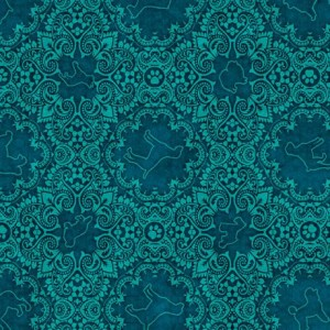 Ткань DOG MEDALLION AQUA Quilting Treasures