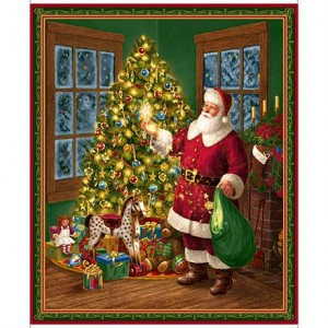 SANTA & CHRISTMAS TREE PANEL, Quilting Treasures