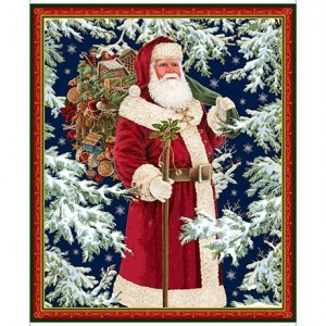 VINTAGE SANTA PANEL, Quilting Treasures