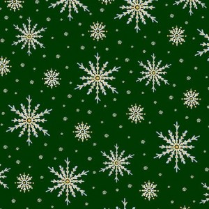 Ткань SNOWFLAKES Forest, Quilting Treasures