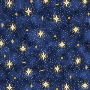 Ткань SPARKLING STARS Navy, Quilting Treasures