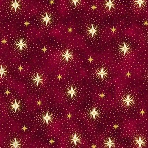 Ткань SPARKLING STARS Red, Quilting Treasures