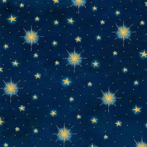 Ткань STARS Navy, Quilting Treasures